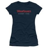 WarGames No Winners S/S Junior Women's T-Shirt Sheer Navy