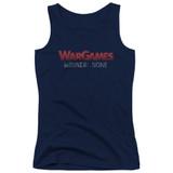 WarGames No Winners Junior Women's Tank Top Navy