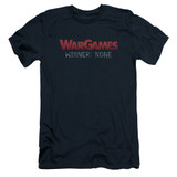 WarGames No Winners S/S Adult 30/1 T-Shirt Navy