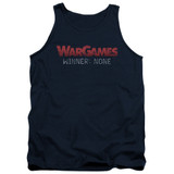 WarGames No Winners Adult Tank Top Navy