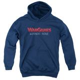 WarGames No Winners Youth Pullover Hoodie Sweatshirt Navy