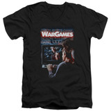 WarGames Poster S/S Adult V Neck 30/1 T-Shirt Black