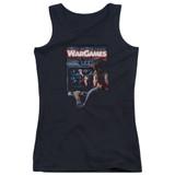 WarGames Poster Junior Women's Tank Top Black