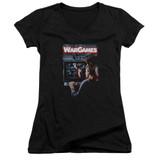 WarGames Poster Junior Women's T-Shirt V Neck Black