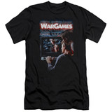WarGames Poster Premium Canvas Adult Slim Fit 30/1 T-Shirt Black