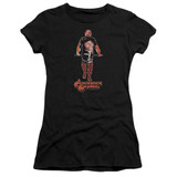A Clockwork Orange Poster Silhouette Premium Junior Women's Sheer T-Shirt Black