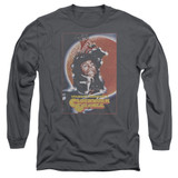 A Clockwork Orange Distressed Poster Adult Long Sleeve T-Shirt Charcoal