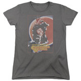 A Clockwork Orange Distressed Poster Women's T-Shirt Charcoal