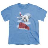 Airplane Logo Youth T-Shirt Carolina Blue