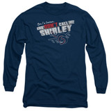 Airplane Don't Call Me Shirley Adult Long Sleeve T-Shirt Navy