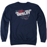 Airplane Don't Call Me Shirley Adult Crewneck Sweatshirt Navy
