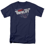 Airplane Don't Call Me Shirley Adult 18/1 T-Shirt Navy