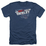 Airplane Don't Call Me Shirley Adult Heather T-Shirt Navy