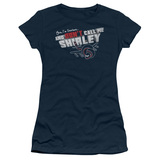 Airplane Don't Call Me Shirley Junior Women's Sheer T-Shirt Navy
