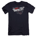 Airplane Don't Call Me Shirley Premuim Canvas Adult Slim Fit 30/1 T-Shirt Navy