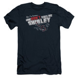Airplane Don't Call Me Shirley Adult 30/1 T-Shirt Navy