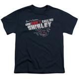 Airplane Don't Call Me Shirley Youth T-Shirt Navy