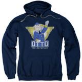 Airplane Otto Adult Pullover Hoodie Sweatshirt Navy