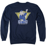 Airplane Otto Adult Crewneck Sweatshirt Navy