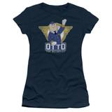 Airplane Otto Junior Women's Sheer T-Shirt Navy