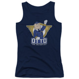 Airplane Otto Junior Women's Tank Top T-Shirt Navy