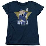 Airplane Otto Women's T-Shirt Navy