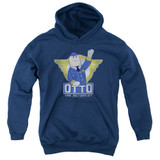 Airplane Otto Youth Pullover Hoodie Sweatshirt Navy
