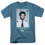 Airplane Roger Murdock Adult 18/1 T-Shirt Slate