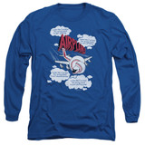 Airplane Picked The Wrong Day Adult Long Sleeve T-Shirt Royal Blue