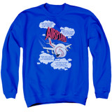 Airplane Picked The Wrong Day Adult Crewneck Sweatshirt Royal Blue