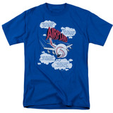 Airplane Picked The Wrong Day Adult 18/1 T-Shirt Royal Blue
