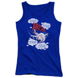 Airplane Picked The Wrong Day Junior Women's Tank Top T-Shirt Royal Blue