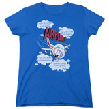 Airplane Picked The Wrong Day Women's T-Shirt Royal Blue