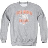 Airplane Trans American Adult Crewneck Sweatshirt Athletic Heather