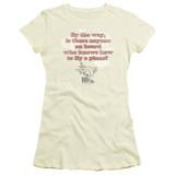 Airplane Fly Junior Women's Sheer T-Shirt Cream