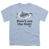 Airplane Don't Eat The Fish Youth T-Shirt Light Blue