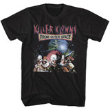 Killer Klowns From Outer Space Klowns In Space Black Adult T-Shirt