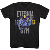 Masters Of The Universe Eternia Gym Black Adult T-Shirt