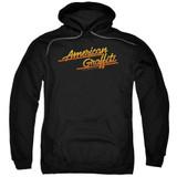 American Graffiti Neon Logo Adult Pullover Hoodie Sweatshirt Black