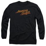 American Graffiti Neon Logo Adult Long Sleeve T-Shirt Black