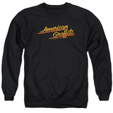 American Graffiti Neon Logo Adult Crewneck Sweatshirt Black