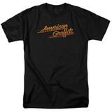 American Graffiti Neon Logo Adult 18/1 T-Shirt Black