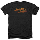 American Graffiti Neon Logo Adult Heather T-Shirt Black