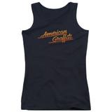 American Graffiti Neon Logo Junior Women's Tank Top T-Shirt Black