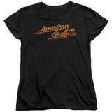 American Graffiti Neon Logo Women's T-Shirt Black