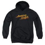 American Graffiti Neon Logo Youth Pullover Hoodie Sweatshirt Black