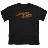 American Graffiti Neon Logo Youth T-Shirt Black