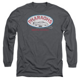 American Graffiti Pharaohs Adult Long Sleeve T-Shirt Charcoal