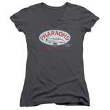 American Graffiti Pharaohs Junior Women's V-Neck T-Shirt Charcoal