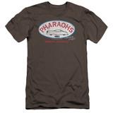 American Graffiti Pharaohs Premuim Canvas Adult Slim Fit T-Shirt Charcoal